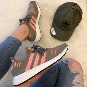 Adidas Swift Run Trace Cargo/Trace Pink 7.5 NWT